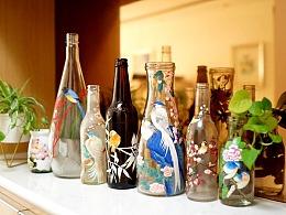 手绘瓶子和家里那些画儿