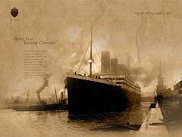 RMS Titanic 复古视觉