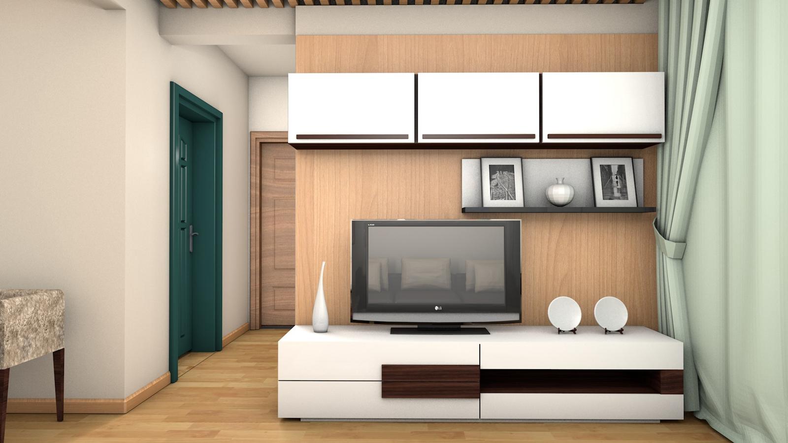 【客厅】电视机背景墙——木板上墙/木饰面贴皮,后期因费用问题及效果