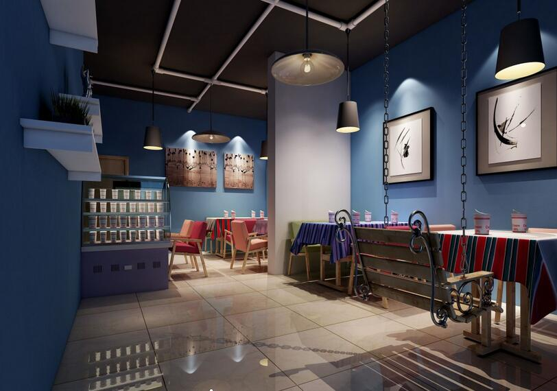 成都奶茶店装修设计经典案例v白色|室内室内设计白色模板展板图片