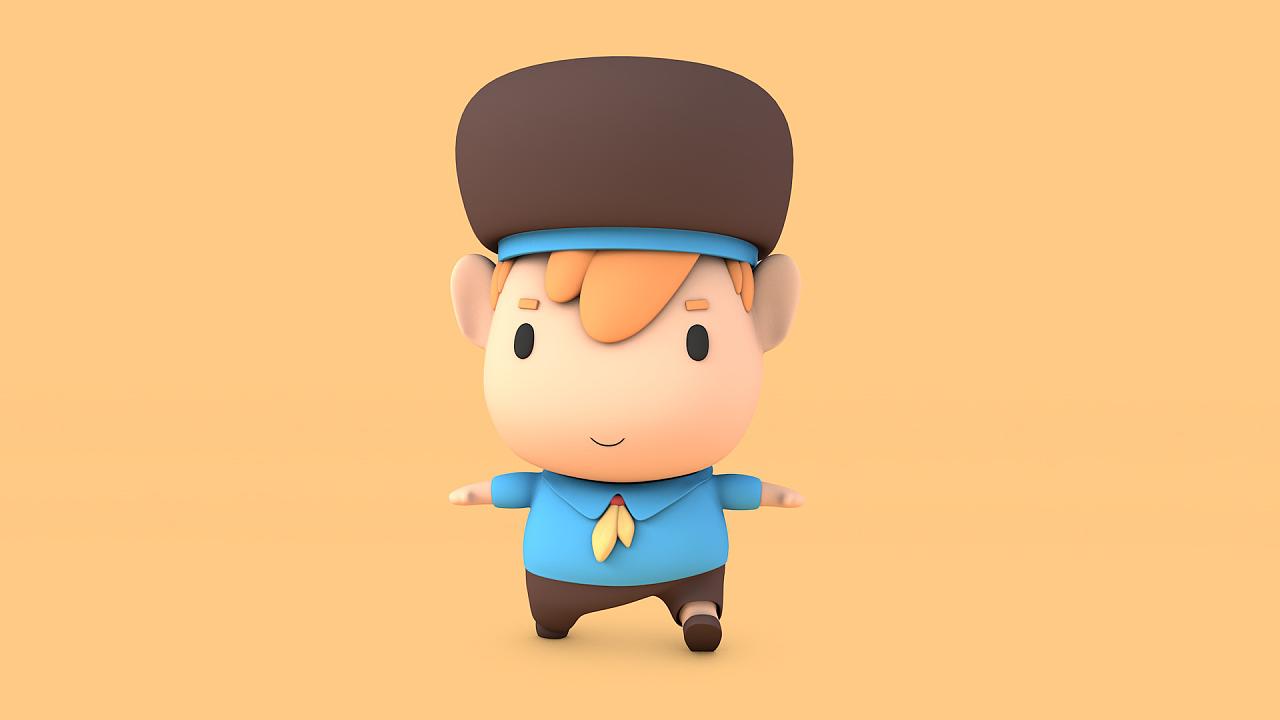 c4d|卡通角色|3d卡通角色建模动画练习|三维|人物/|g