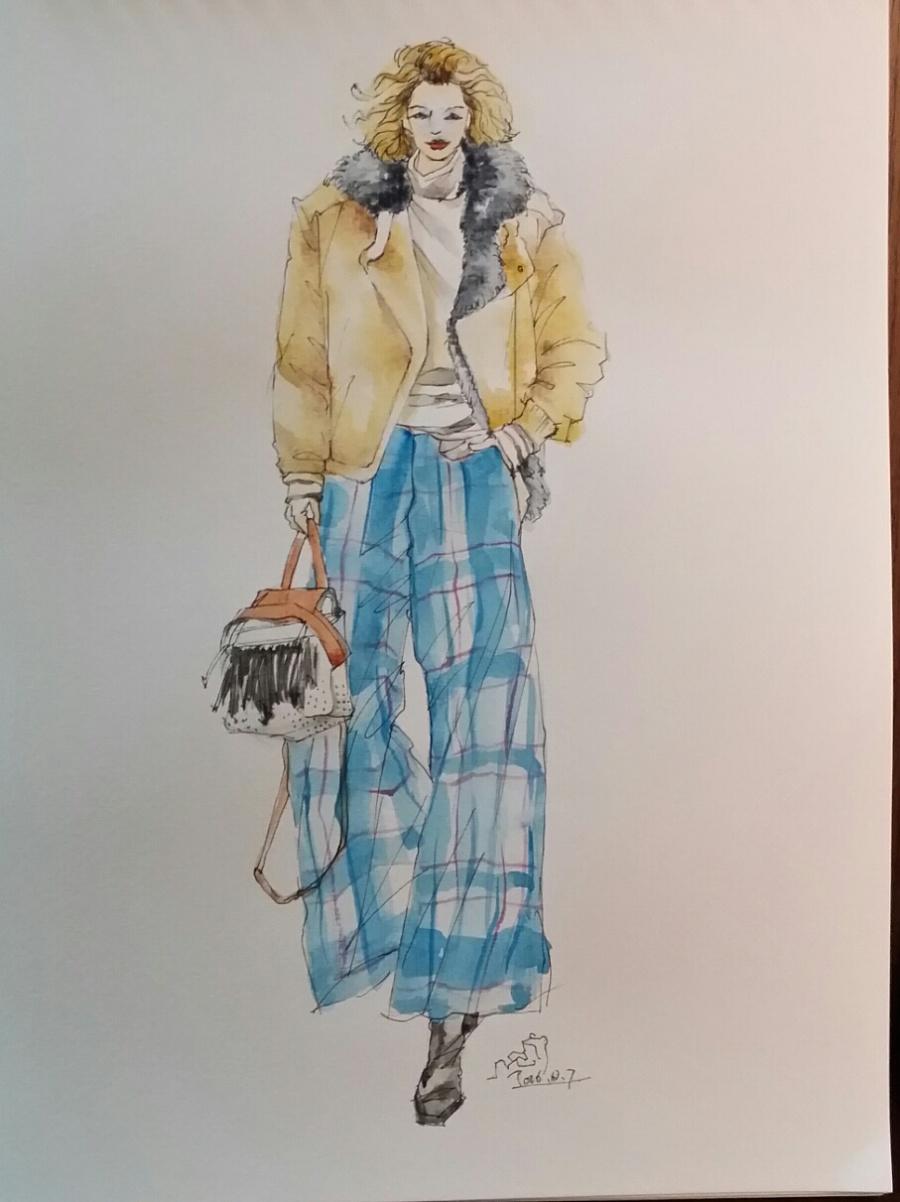 手绘时装插画(女装)|休闲/流行服饰|服装|箐蛙 - 原创