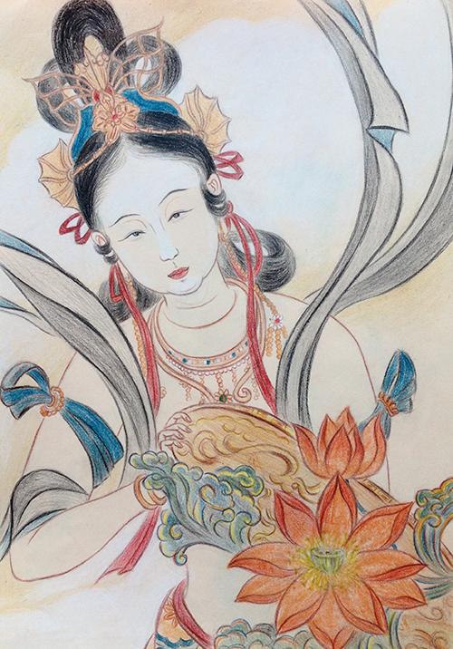 手绘图集作品|单幅动漫|女神|杭州漫画断点创意强上文化漫画图片图片