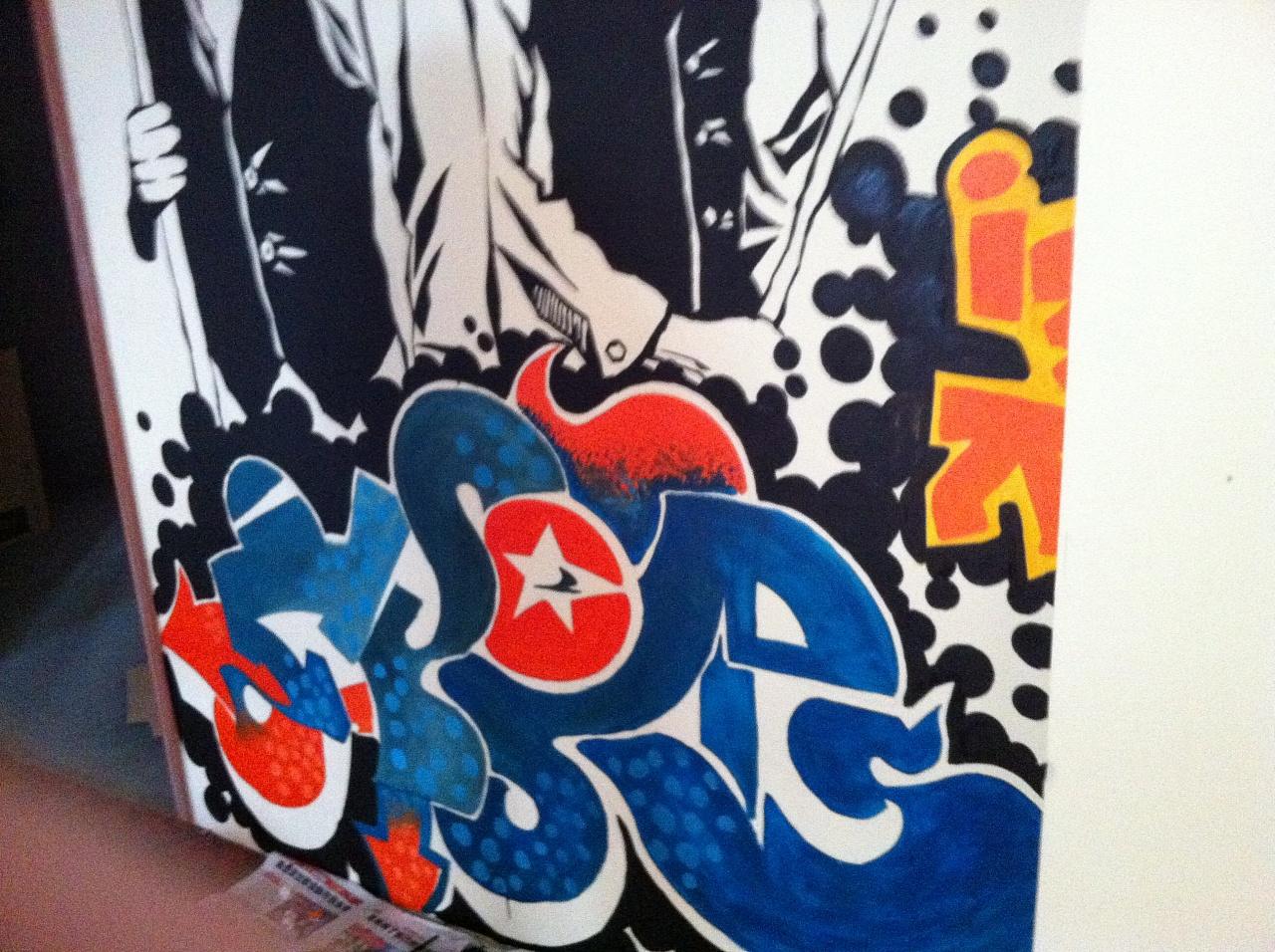 台球场手绘墙