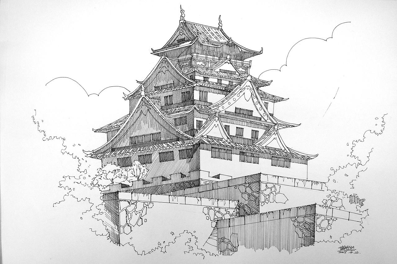 建筑线描第二弹图片