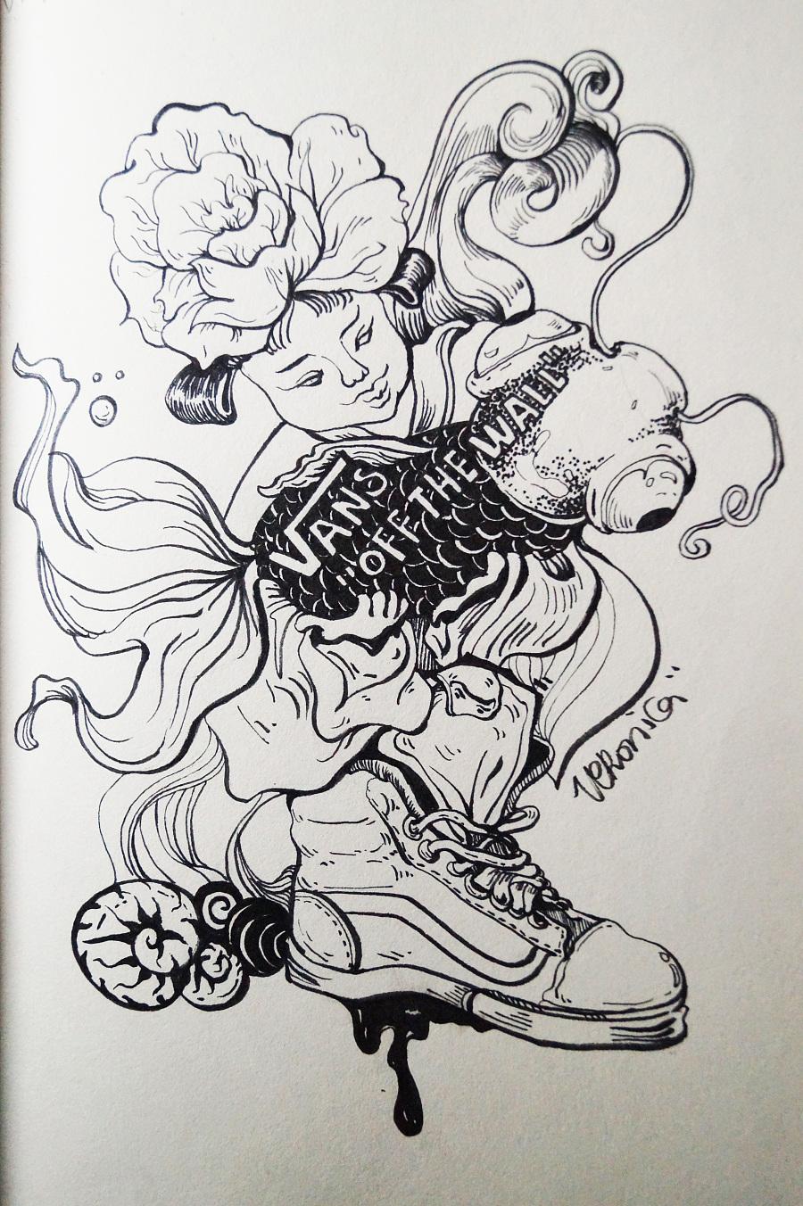 wall中国风涂鸦|涂鸦/潮流|插画