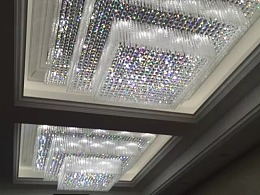 大型酒店大堂大厅水晶吸顶灯定制厂家铭星灯饰专业制作