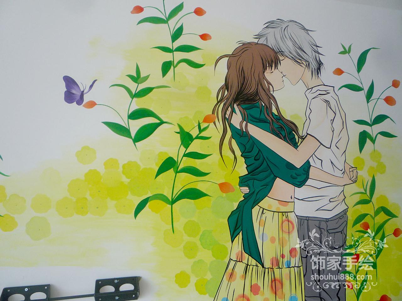大庆手绘 - 恋爱季节 - 大庆饰家手绘墙