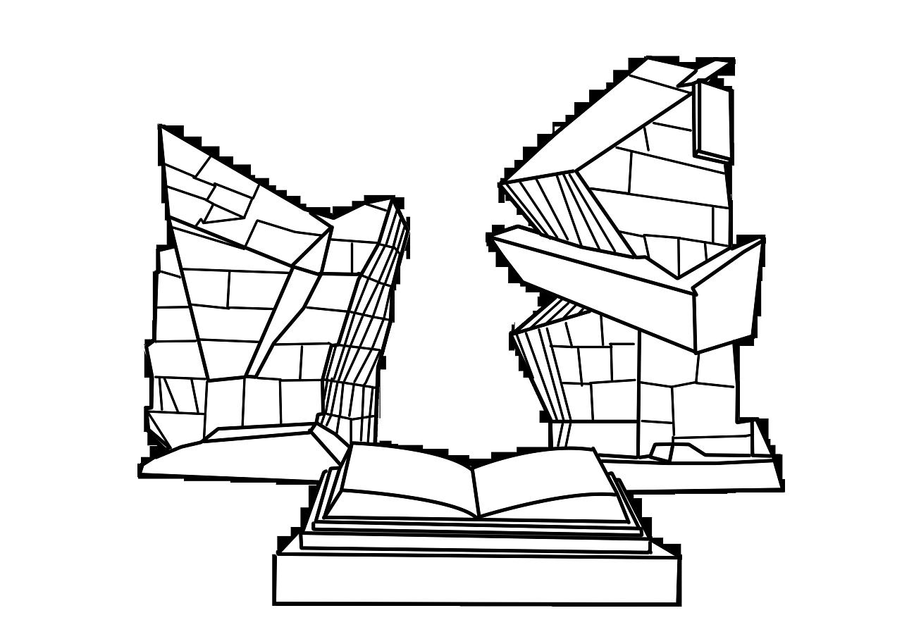 天津标志建筑线描手绘