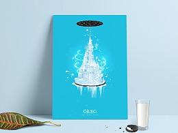 奥利奥冰淇淋系列原创海报