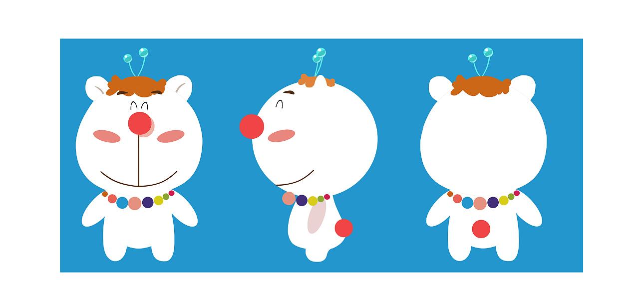 设计理念:蜜糖天使熊博士,外形卡通,拥有很多有趣和神奇的魔法,熊博士脖子上戴的糖果项链具有很强大的魔法,这个项链在蜜糖家族每个人都有一个,根据等级的不同珠子和项链的魔法便会不同.可以变出很多糖果和一些稀奇古怪的东西,为人们带来甜蜜和快乐.头上的两个蓝色球,