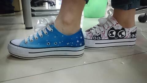 手绘鞋,可水洗.我的鞋子涂鸦