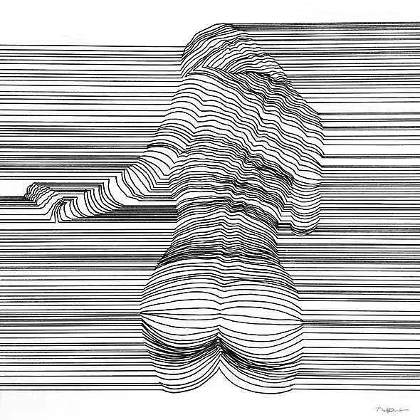 线条美 平面 图案 大海的初心一样美 - 原创作品图片