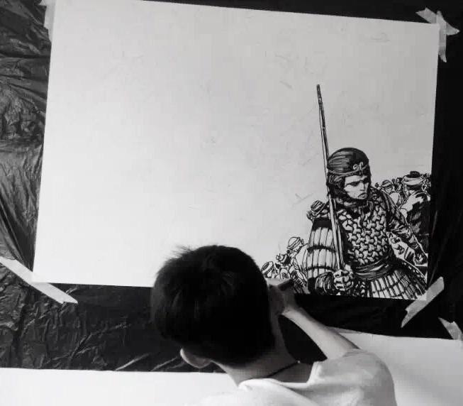 手绘漫画速写,向经典的电影《大话西游》