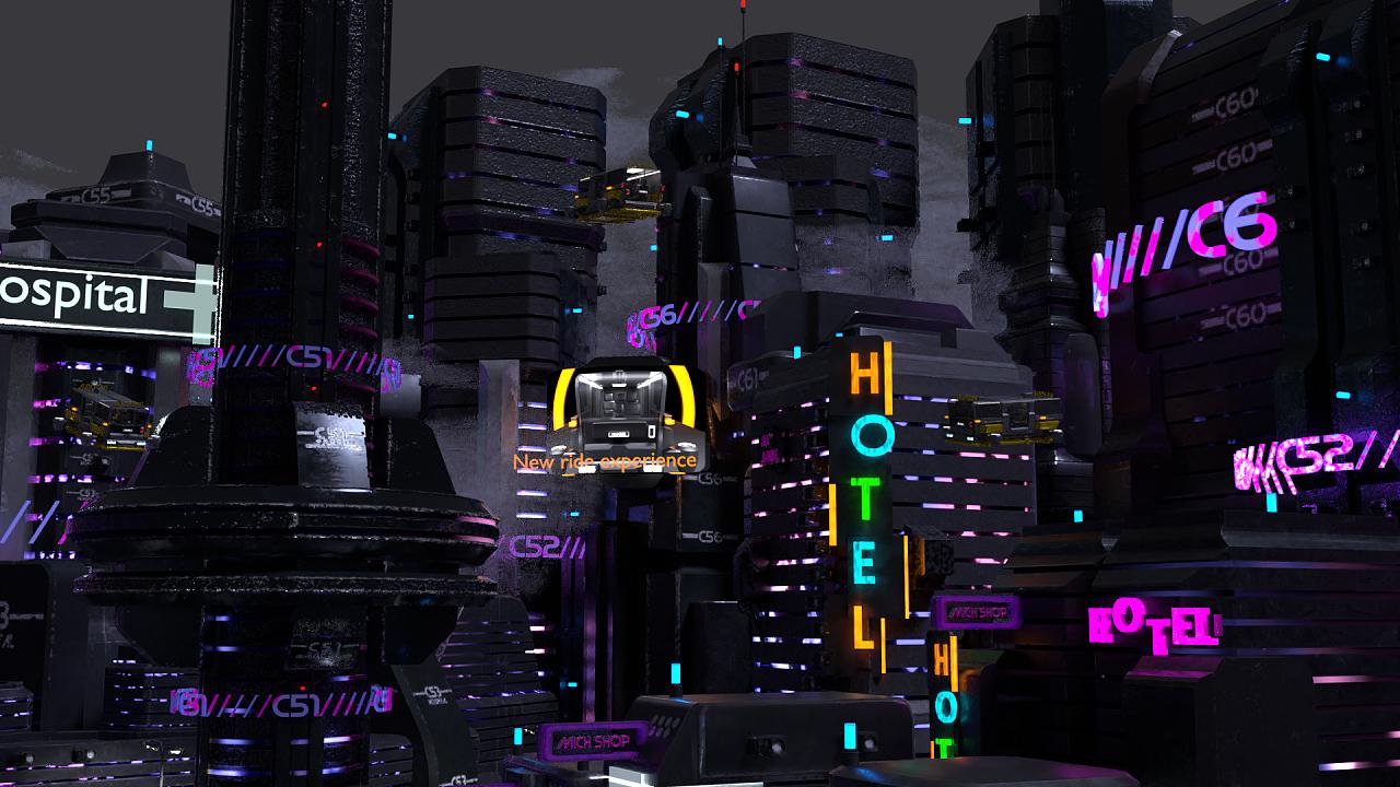 数字1图片_赛博朋克城市|三维|建筑/空间|数字模型个人工作 - 原创作品 - 站 ...