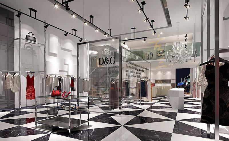 宽四米长十米服装店设计图展示