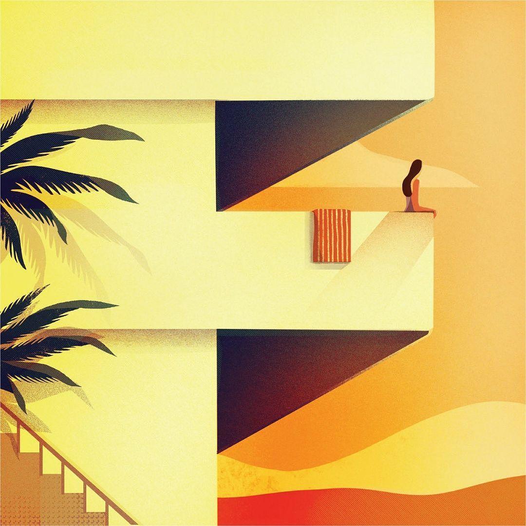 藏着数字的画_Charlie Davis 插画 插画 概念设定 空白间 - 临摹作品 - 站酷 (ZCOOL)