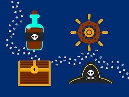 临摹 插画海盗风格