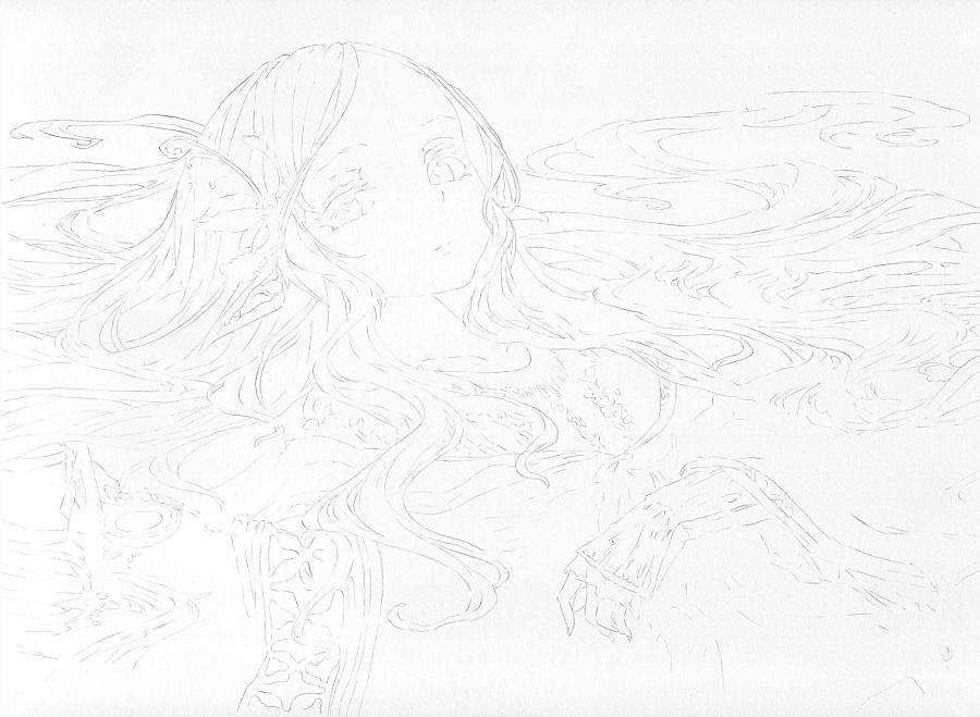 【彩铅】日式插画
