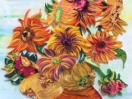 衍纸纯手工原创——《向日葵》
