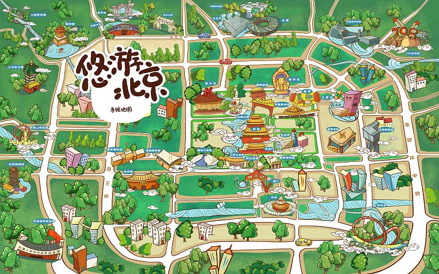 原创作品:北京手绘地图
