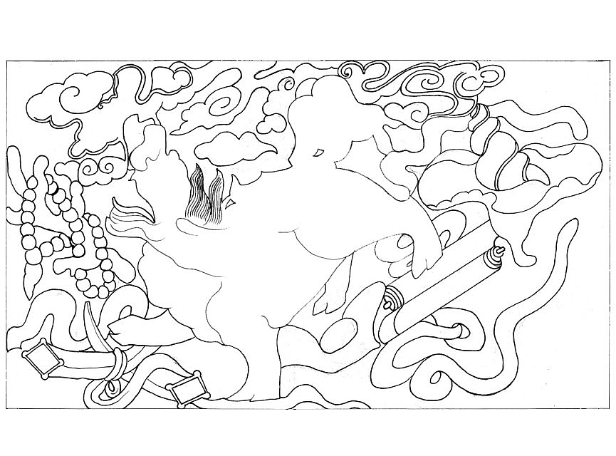 常德桃源木雕狮子手绘