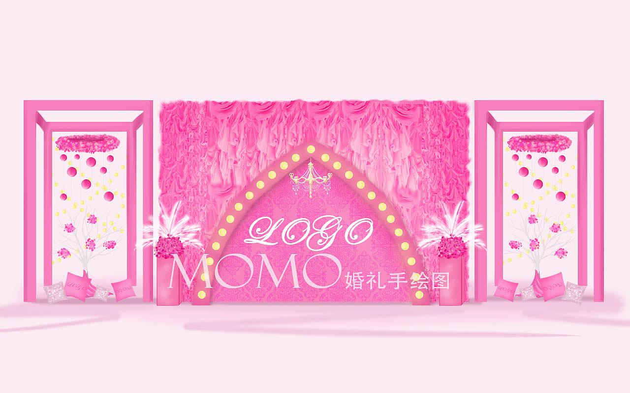 婚礼手绘图 空间 室内设计 momo瞎花花 - 原创作品