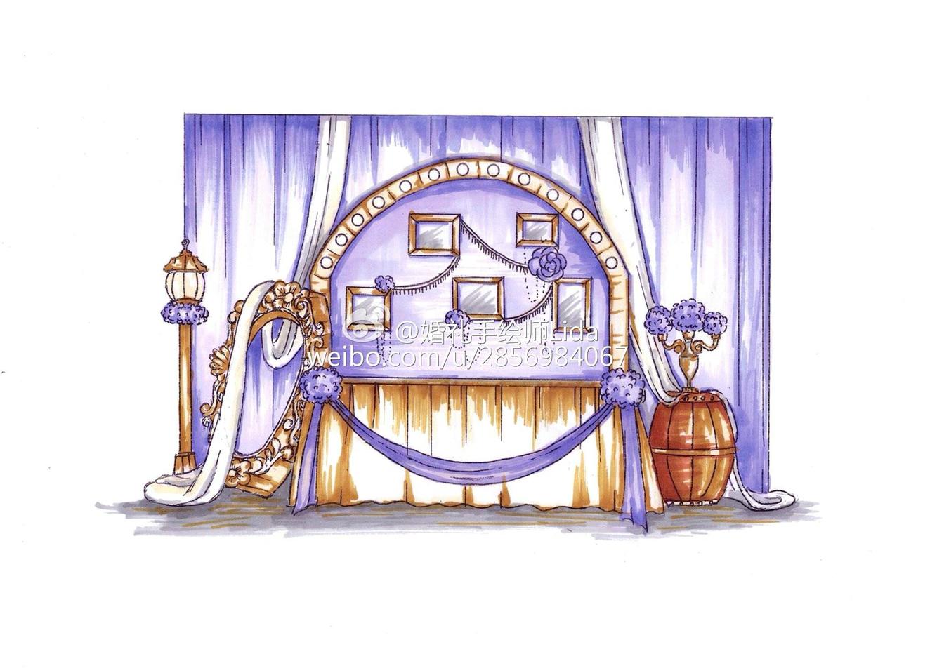 2015年部分婚礼手绘图,多多指教给点意见