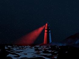 海面和灯塔