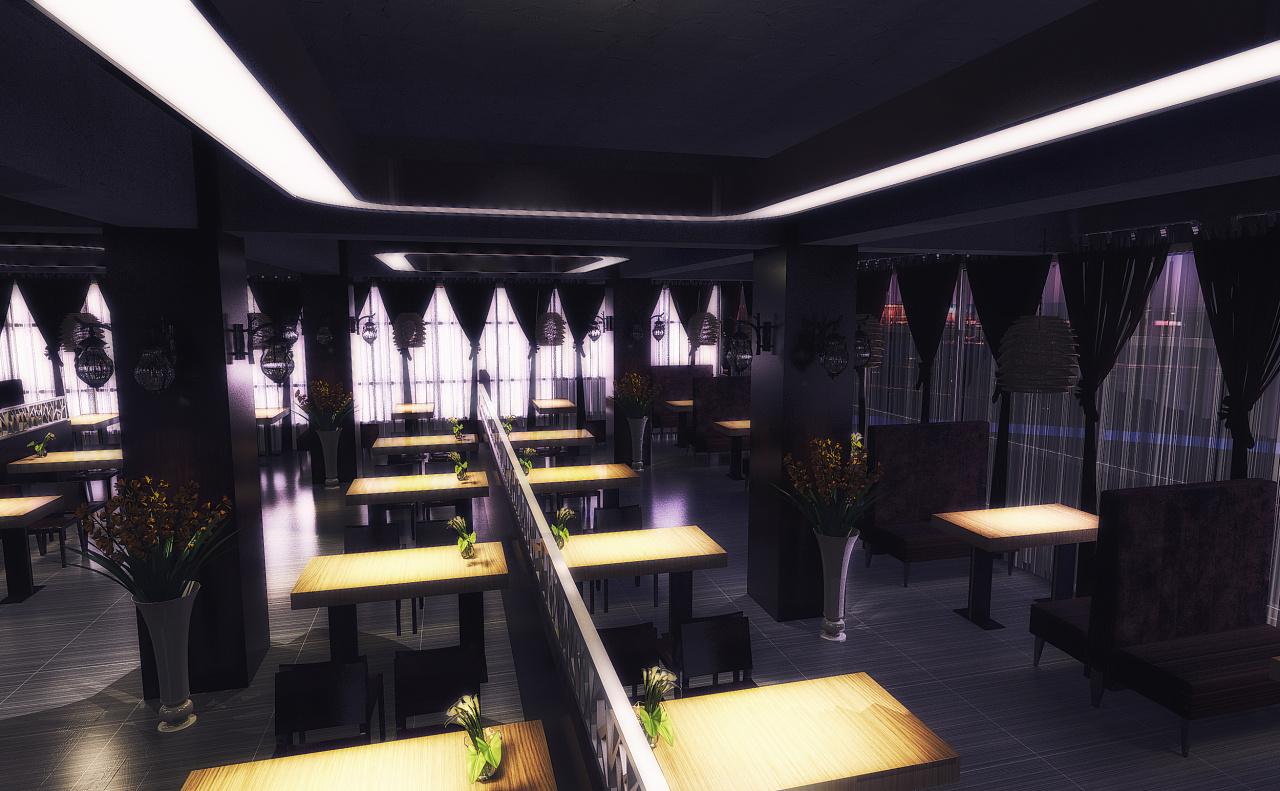 工装餐厅|空间|室内设计|pocaomao - 原创作品 - 站酷