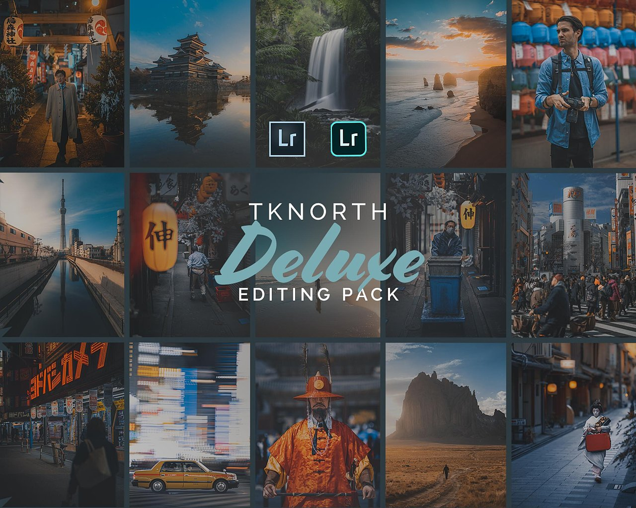 【P289】澳大利亚旅行摄影师蒂姆诺西预设系列 含教程TKNORTH DELUXE EDITING PACK v2 Lightroom Presets