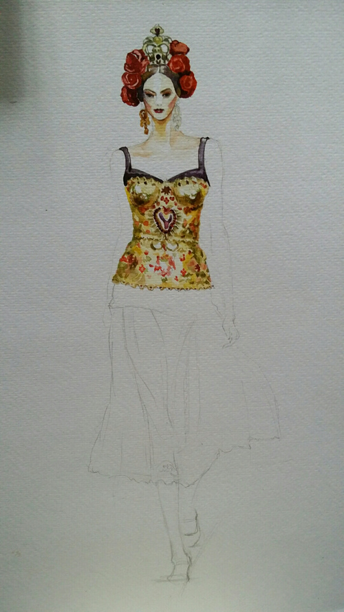 服装手绘图|服装|休闲/流行服饰|箐蛙 - 原创作品