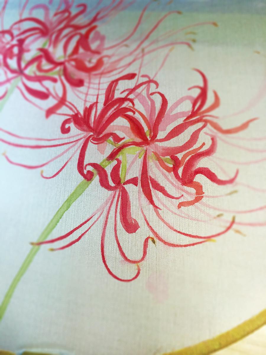 水彩手绘--扇子(彼岸花) 水彩 纯艺术 barly