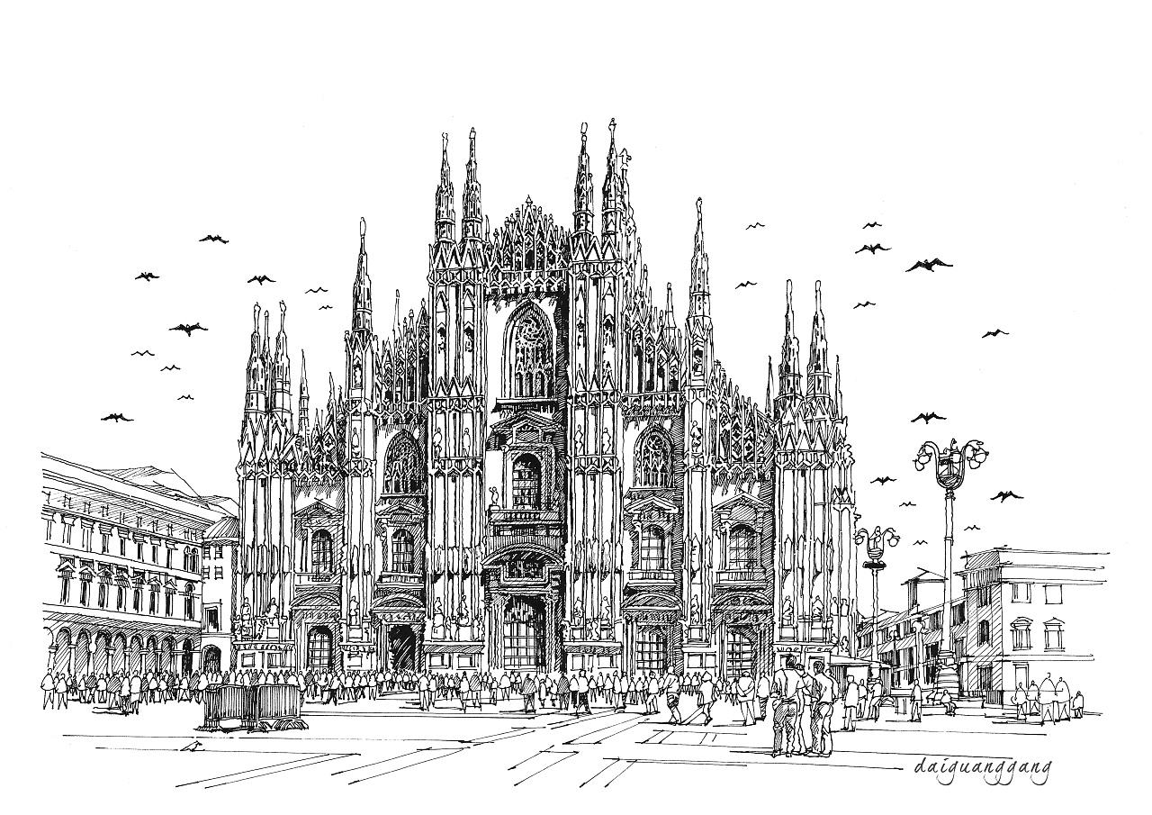 建筑设计手绘线稿表现技法