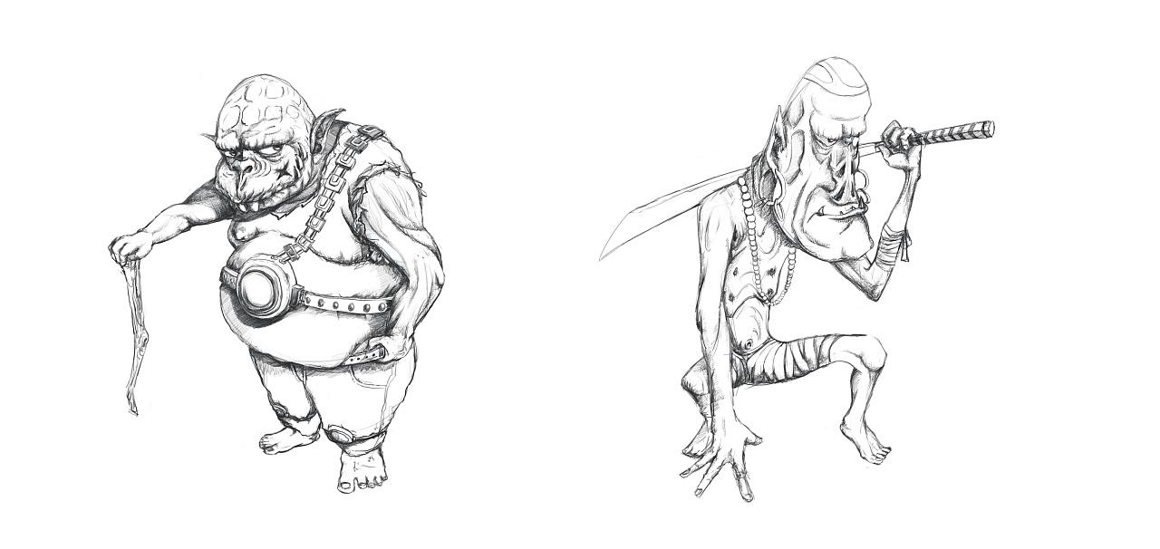 怪物角色设计线稿