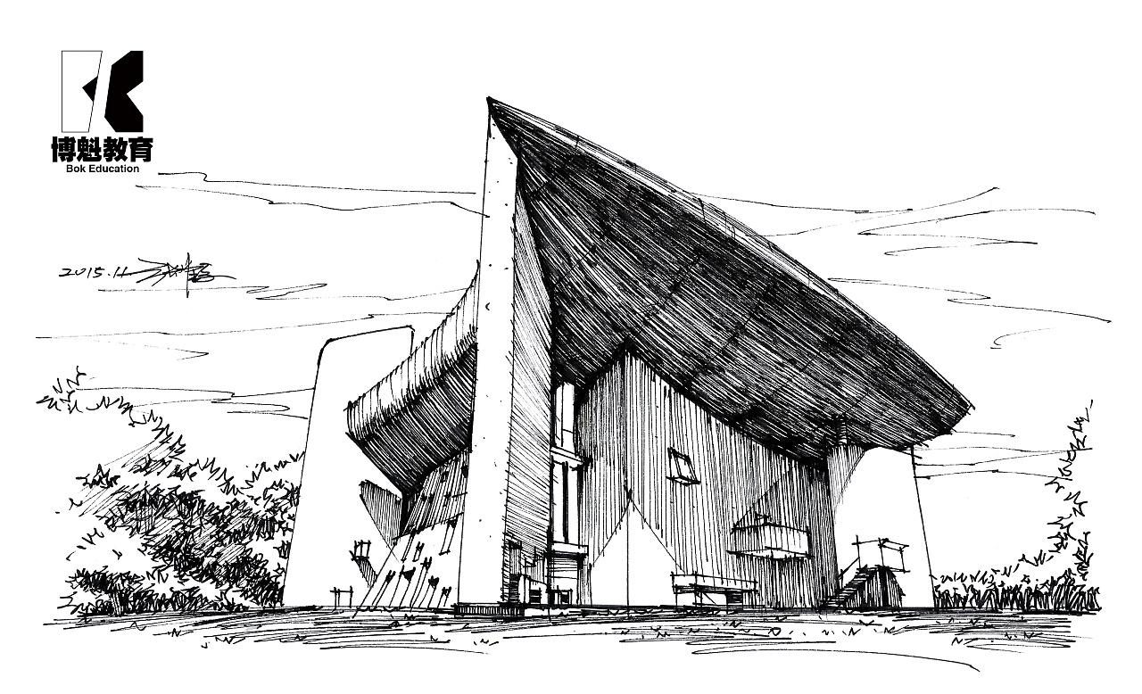 有名的建筑速写_世界著名建筑速写|纯艺术|速写|张大宝不帅 - 原创作品 - 站酷 (ZCOOL)