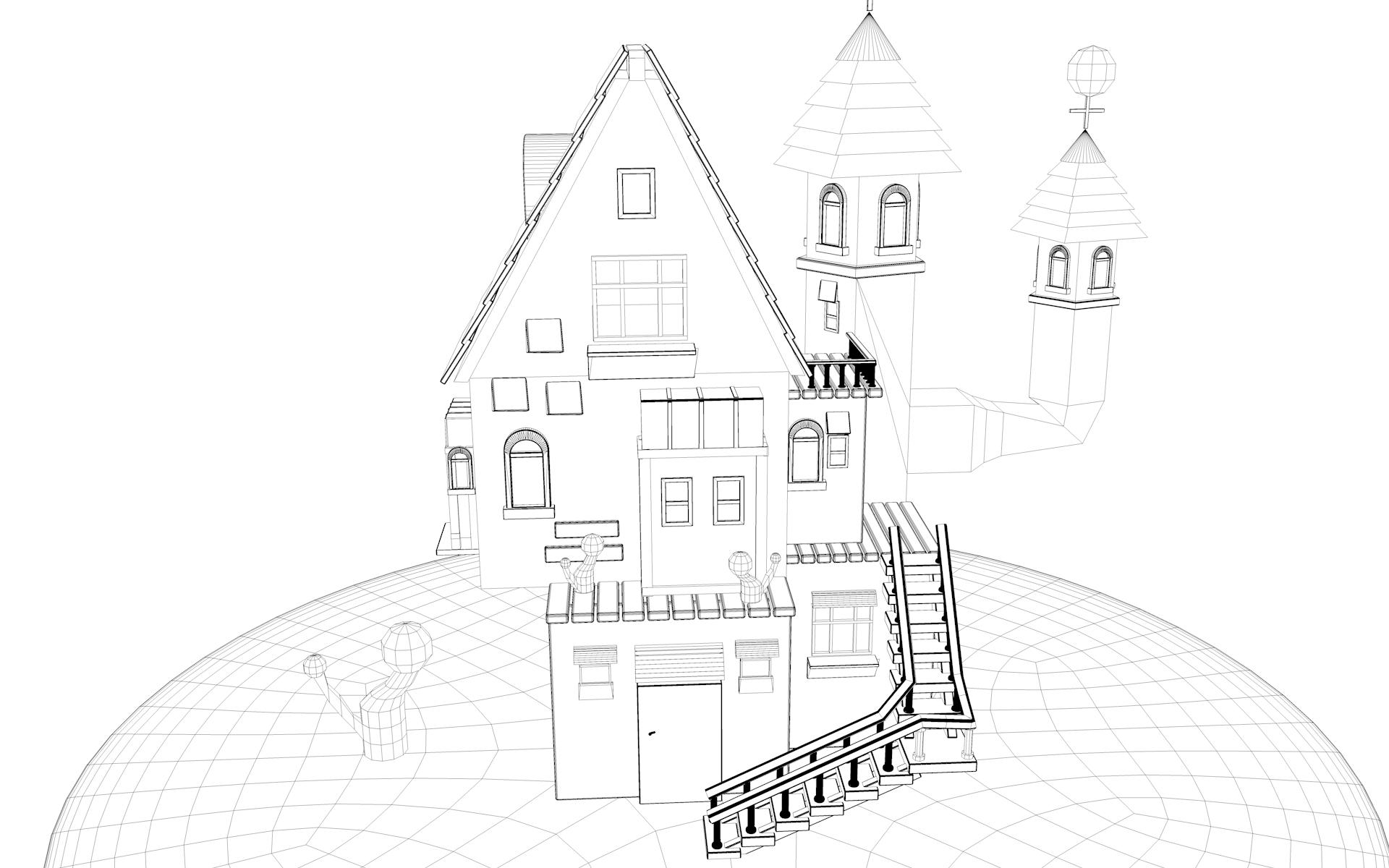 户型 户型图 简笔画 平面图 手绘 线稿 1920_1200