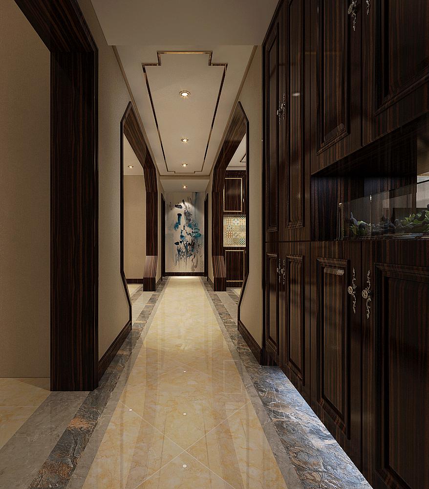 星河盛世城208㎡四室两厅新中式风格装修效果图图片