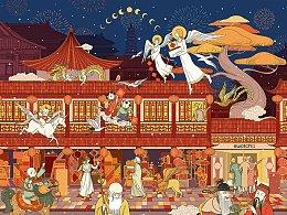 SWATCH斯沃琪2020新春定制画布 #中西众神春节送福图#