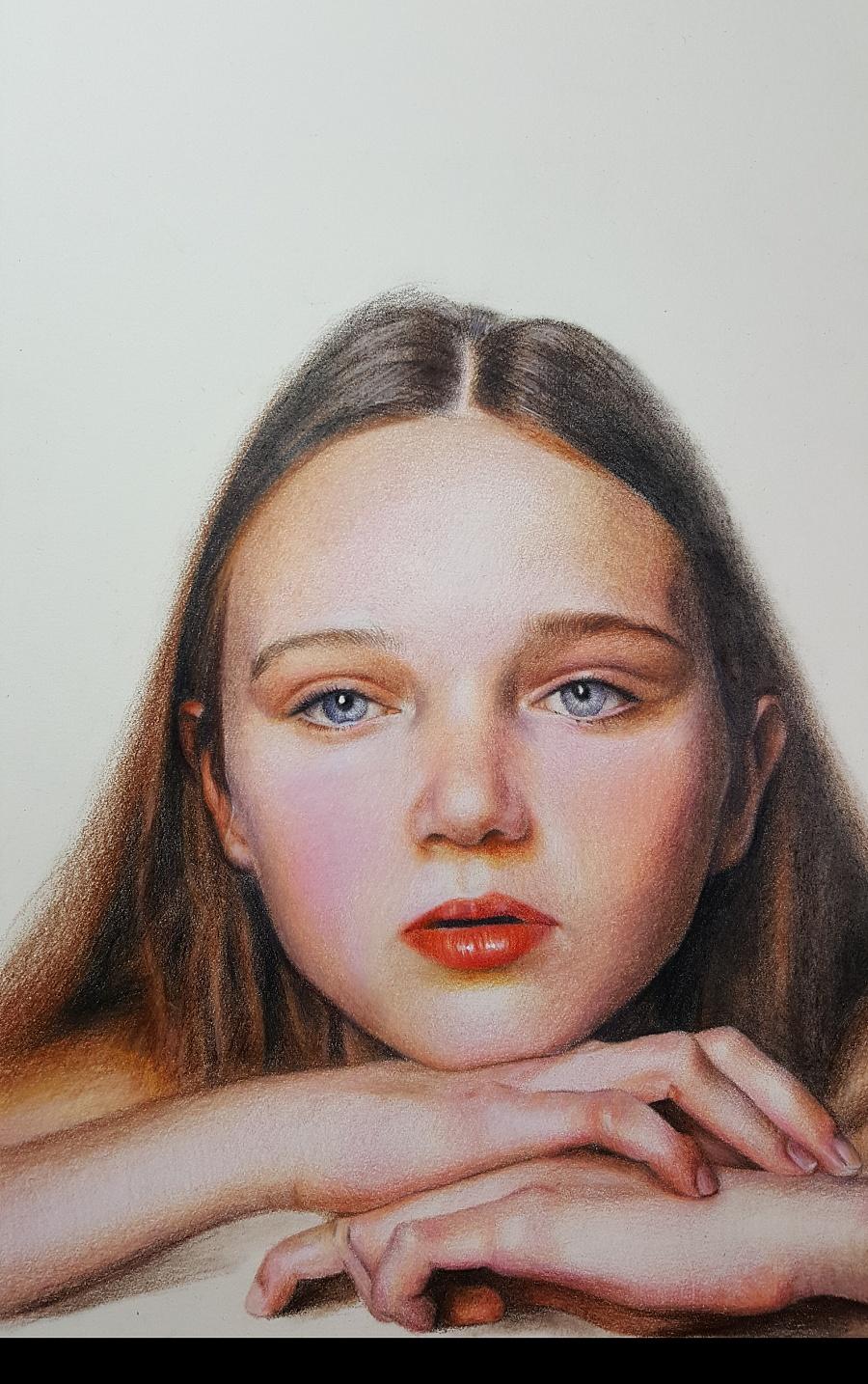 原创作品:人物彩铅手绘