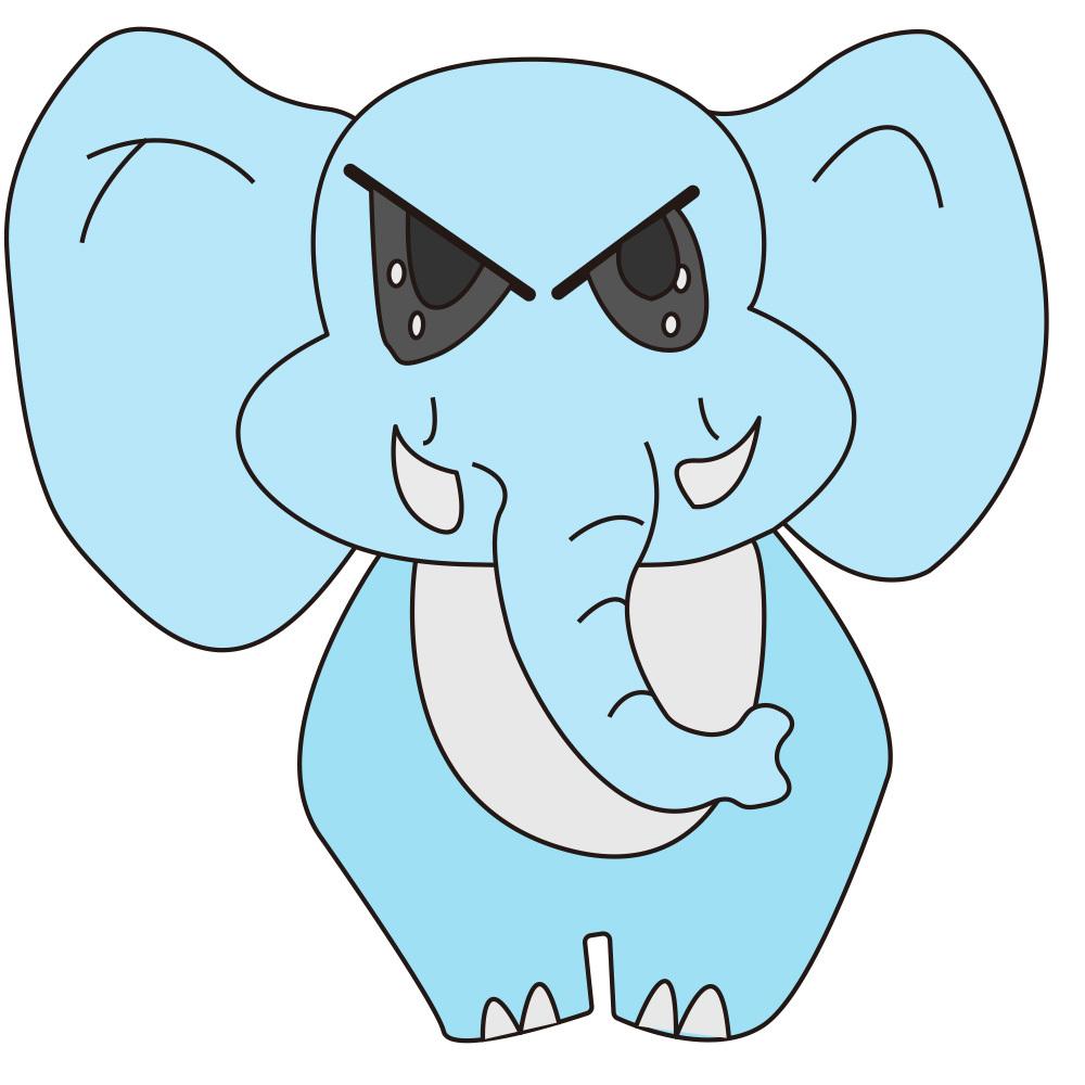 手绘 愤怒的小象