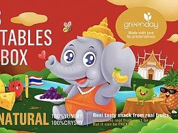 泰象包装插画了