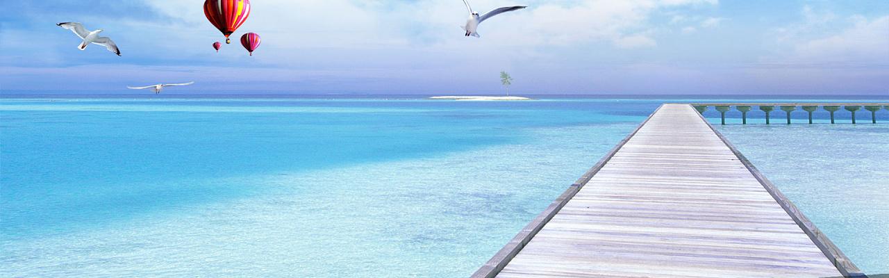 高清海洋沙滩深海元素素材图片