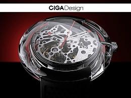 CIGA&SOYA 全透明机械表产品动画