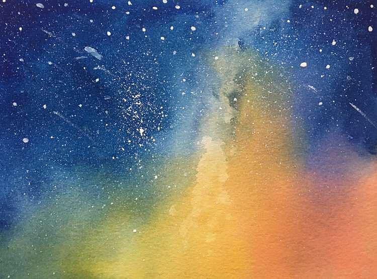 星空图片手绘 画法