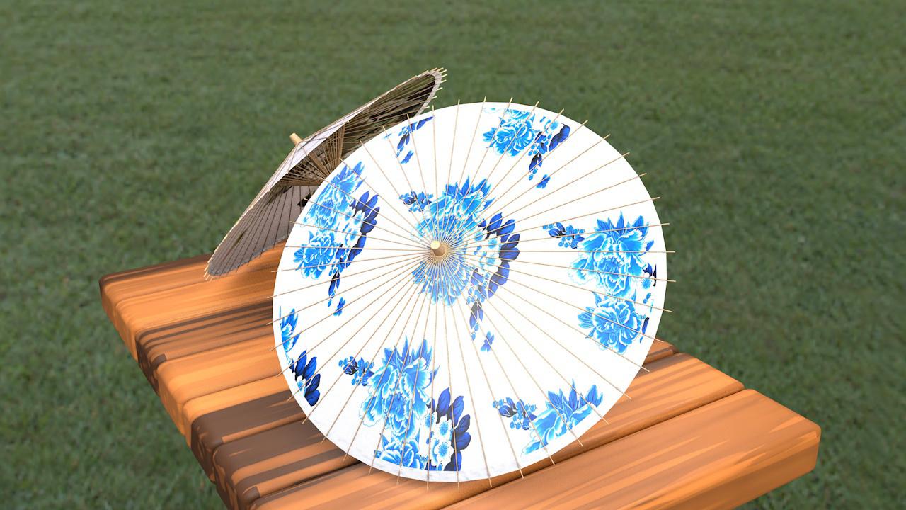 古风油纸伞