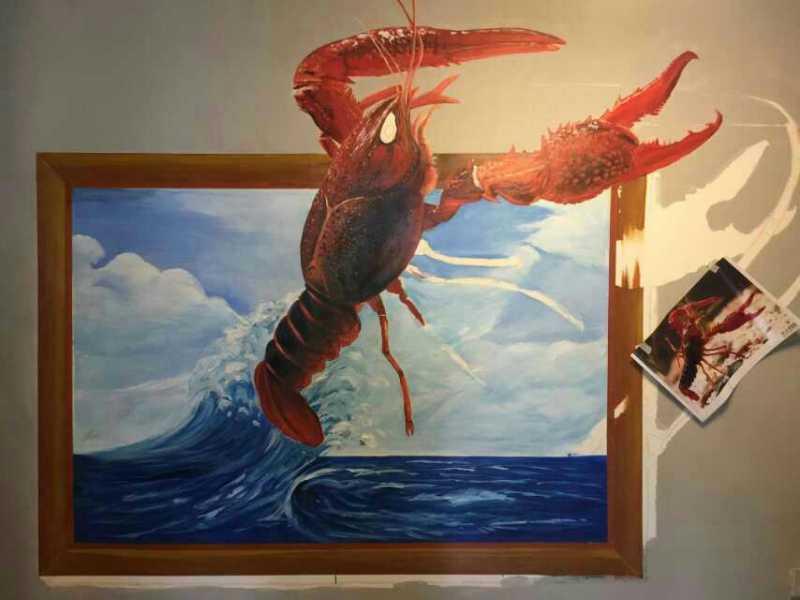 上海3d立体画制作 嘉定餐厅立体画手绘 立体画公司