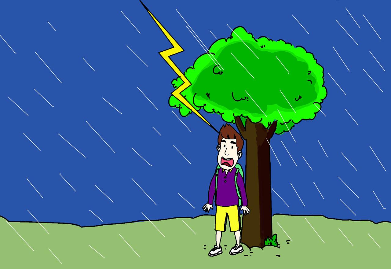 台风暴雨【手绘】