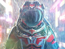 赛博 x 蒸汽波-太空人
