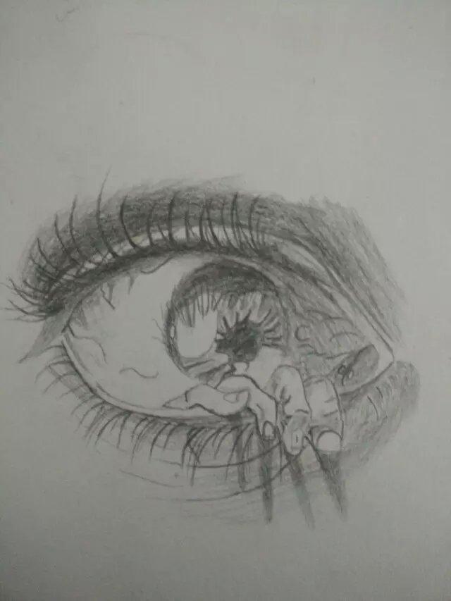 眼睛结构素描临摹
